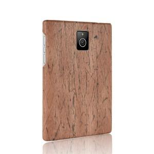 Чехол накладка текстурная отделка Дерево для Blackberry Passport Коричневый