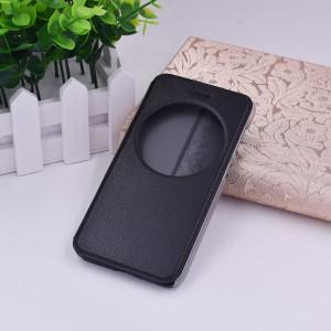 Чехол флип подставка на пластиковой основе с окном вызова для Asus ZenFone Live Черный