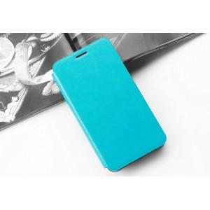 Глянцевый водоотталкивающий чехол горизонтальная книжка подставка на силиконовой основе с отсеком для карт для ASUS ZenFone Max Pro M2 Голубой
