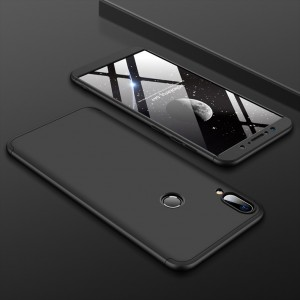 Двухкомпонентный сборный двухцветный пластиковый матовый чехол для ASUS ZenFone Max Pro M2 Черный