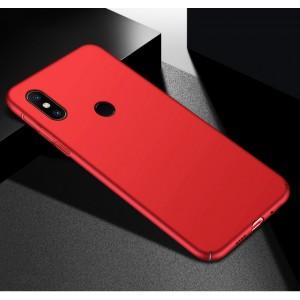 Пластиковый непрозрачный матовый чехол с улучшенной защитой элементов корпуса для Xiaomi RedMi Note 5/5 Pro Красный