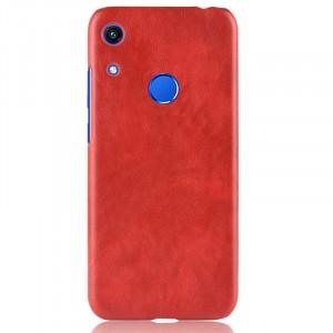 Чехол накладка текстурная отделка Кожа для Huawei Y6 (2019)/Honor 8A Красный