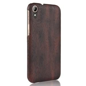 Чехол накладка текстурная отделка Дерево для HTC Desire 830 Черный