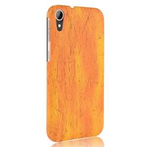 Чехол накладка текстурная отделка Дерево для HTC Desire 830 Бежевый