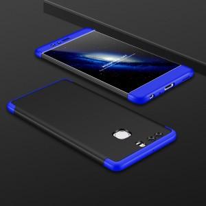 Двухкомпонентный сборный пластиковый матовый чехол для Huawei Mate 9 Синий