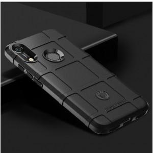 Силиконовый матовый непрозрачный чехол с текстурным покрытием Клетка для Huawei Y6 (2019)/Honor 8A Черный