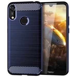 Силиконовый матовый непрозрачный чехол с текстурным покрытием Металлик для Huawei Y6 (2019)/Honor 8A
