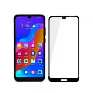 Полноэкранное ультратонкое износоустойчивое сколостойкое олеофобное защитное стекло-пленка для Huawei Y6 (2019)/Honor 8A
