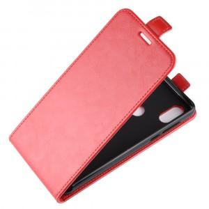 Глянцевый водоотталкивающий чехол вертикальная книжка на силиконовой основе с отсеком для карт на магнитной защелке для Xiaomi RedMi Note 7 Красный
