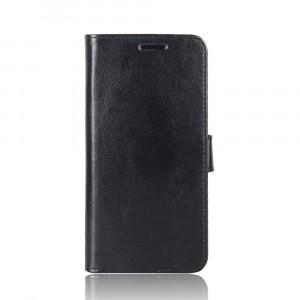 Глянцевый водоотталкивающий чехол портмоне подставка на силиконовой основе с отсеком для карт на магнитной защелке для Alcatel A7 Черный