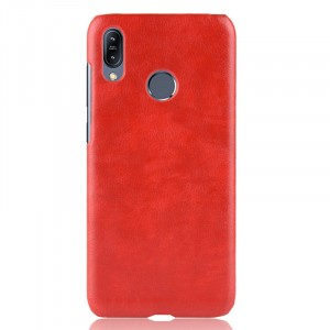 Чехол накладка текстурная отделка Кожа для ASUS ZenFone Max Pro M2 Красный