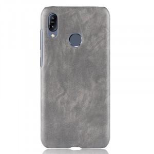Чехол накладка текстурная отделка Кожа для ASUS ZenFone Max Pro M2 Серый