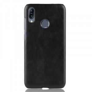 Чехол накладка текстурная отделка Кожа для ASUS ZenFone Max Pro M2 Черный