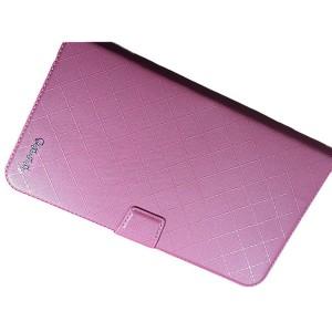 Чехол флип подставка на магнитной защелке с отсеком для карт для планшета Розовый