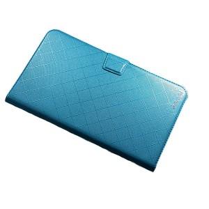 Чехол флип подставка на магнитной защелке с отсеком для карт для планшета Голубой