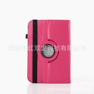 Чехол флип подставка роторный на зажимах для планшета 7 дюймов Пурпурный
