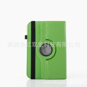 Чехол флип подставка роторный на зажимах для планшета 7 дюймов Зеленый