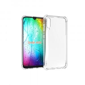 Силиконовый глянцевый транспарентный чехол с усиленными углами для Samsung Galaxy A50