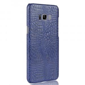 Чехол накладка текстурная отделка Кожа Крокодила для Samsung Galaxy S8 Синий