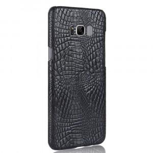 Чехол накладка текстурная отделка Кожа Крокодила для Samsung Galaxy S8 Черный