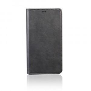 Глянцевый водоотталкивающий чехол портмоне подставка с отсеком для карт на присоске для Samsung Galaxy A50 Черный