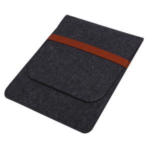 Войлочный мешок с двумя внутренними карманами для планшета 11 дюймов Черный