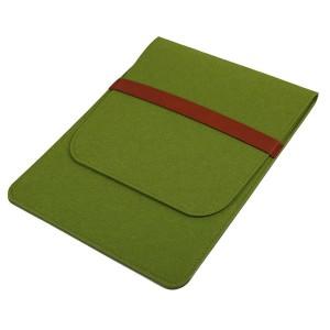 Войлочный мешок с двумя внутренними карманами для планшета 11 дюймов Зеленый