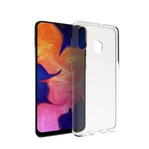 Силиконовый глянцевый транспарентный чехол для Samsung Galaxy A20/A30
