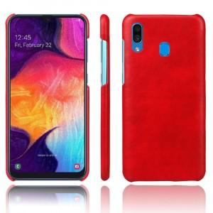 Чехол накладка текстурная отделка Кожа для Samsung Galaxy A20/A30 Красный