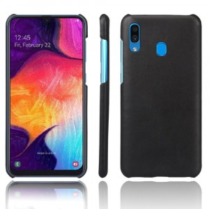 Чехол накладка текстурная отделка Кожа для Samsung Galaxy A20/A30 Черный