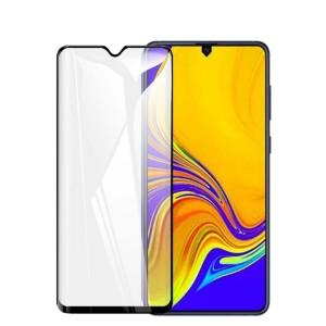 Полноэкранное ультратонкое износоустойчивое сколостойкое олеофобное защитное стекло-пленка для Samsung Galaxy A20/A30/A50 Черный