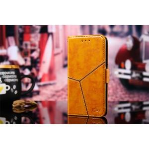 Винтажный чехол портмоне подставка на силиконовой основе с отсеком для карт и текстурным покрытием Линии на магнитной защелке для Samsung Galaxy S9 Plus Бежевый