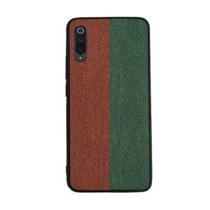 Силиконовый матовый непрозрачный чехол с текстурным покрытием Ткань для Samsung Galaxy A50  Зеленый