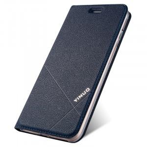 Чехол флип подставка текстура Линии на силиконовой основе с отсеком для карт для Iphone 7/8 Синий