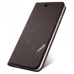 Чехол флип подставка текстура Линии на силиконовой основе с отсеком для карт для Iphone 7/8 Коричневый
