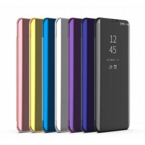 Пластиковый непрозрачный матовый чехол с полупрозрачной крышкой с зеркальным покрытием для Samsung Galaxy A20/A30