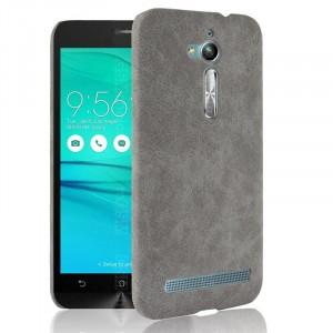 Чехол накладка текстурная отделка Кожа для ASUS ZenFone Go ZB500KL Серый