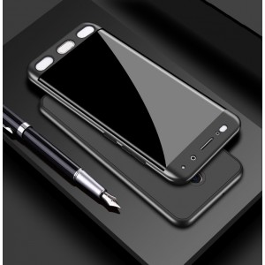 Двухкомпонентный сборный пластиковый матовый чехол для Xiaomi RedMi 4 Черный