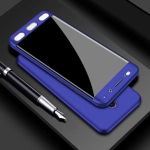 Двухкомпонентный сборный пластиковый матовый чехол для Xiaomi RedMi 4 Синий