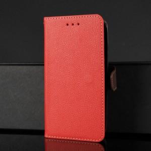 Чехол портмоне подставка на силиконовой основе с отсеком для карт на магнитной защелке для ASUS ZenFone Max Красный