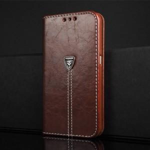 Винтажный чехол портмоне подставка на силиконовой основе с отсеком для карт для Samsung Galaxy S6 Коричневый