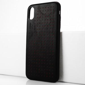 Чехол накладка текстурная отделка Кожа для Iphone Xs Max Черный