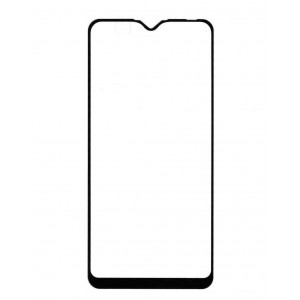 Полноэкранное ультратонкое износоустойчивое сколостойкое олеофобное защитное стекло-пленка для Samsung Galaxy A10  Черный