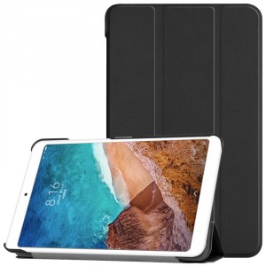 Сегментарный чехол книжка подставка на непрозрачной поликарбонатной основе для Xiaomi Mi Pad 4  Черный