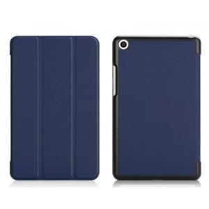 Сегментарный чехол книжка подставка на непрозрачной поликарбонатной основе для Xiaomi Mi Pad 4  Синий