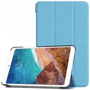 Сегментарный чехол книжка подставка на непрозрачной поликарбонатной основе для Xiaomi Mi Pad 4  Голубой