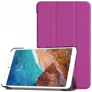 Сегментарный чехол книжка подставка на непрозрачной поликарбонатной основе для Xiaomi Mi Pad 4  Пурпурный