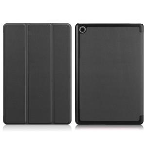 Сегментарный чехол книжка подставка на непрозрачной поликарбонатной основе для Huawei MediaPad M5 Lite  Черный