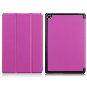 Сегментарный чехол книжка подставка на непрозрачной поликарбонатной основе для Huawei MediaPad M5 Lite  Фиолетовый