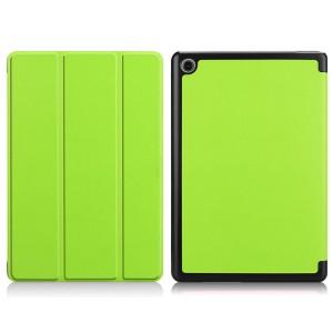 Сегментарный чехол книжка подставка на непрозрачной поликарбонатной основе для Huawei MediaPad M5 Lite  Зеленый